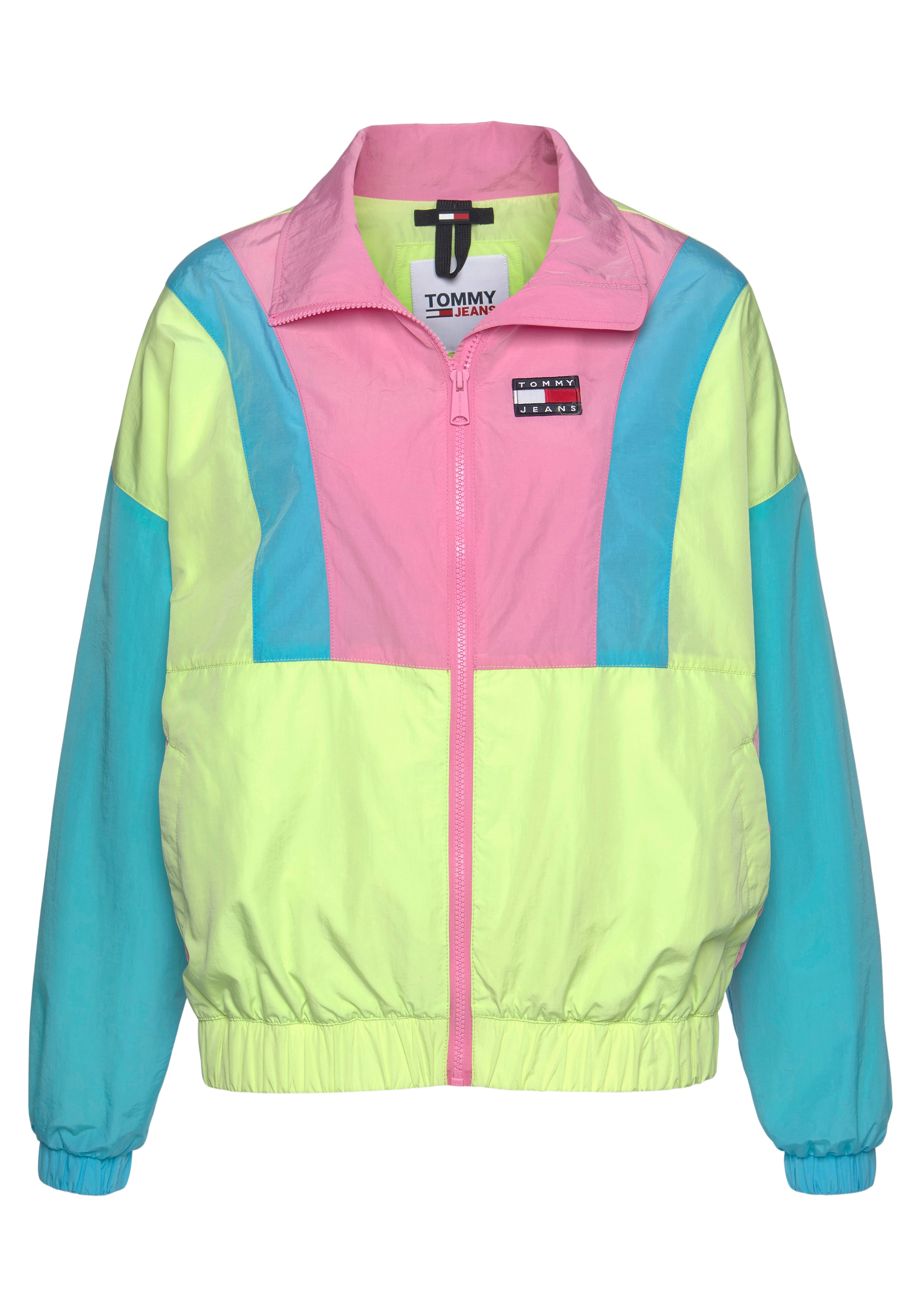 tommy jeans -  Windbreaker TJW COLORBLOCK ZIP THROUGH, im modischem Colorblocking &  Logo-Badge