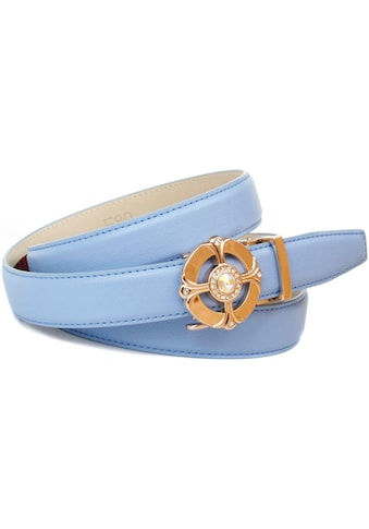 Anthoni Crown Ledergürtel, Automatik Ledergürtel in Himmelblau kaufen