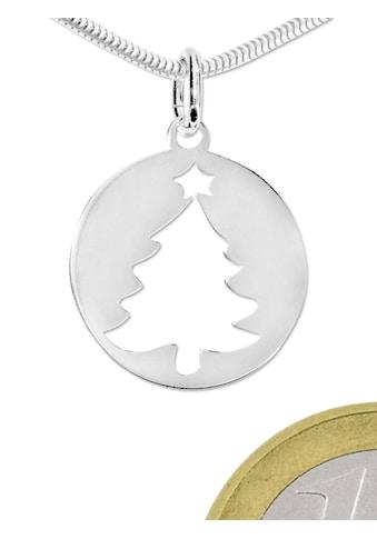 Adelia´s Kettenanhänger »Anhänger Weihnachtsbaum 925 Silber« kaufen