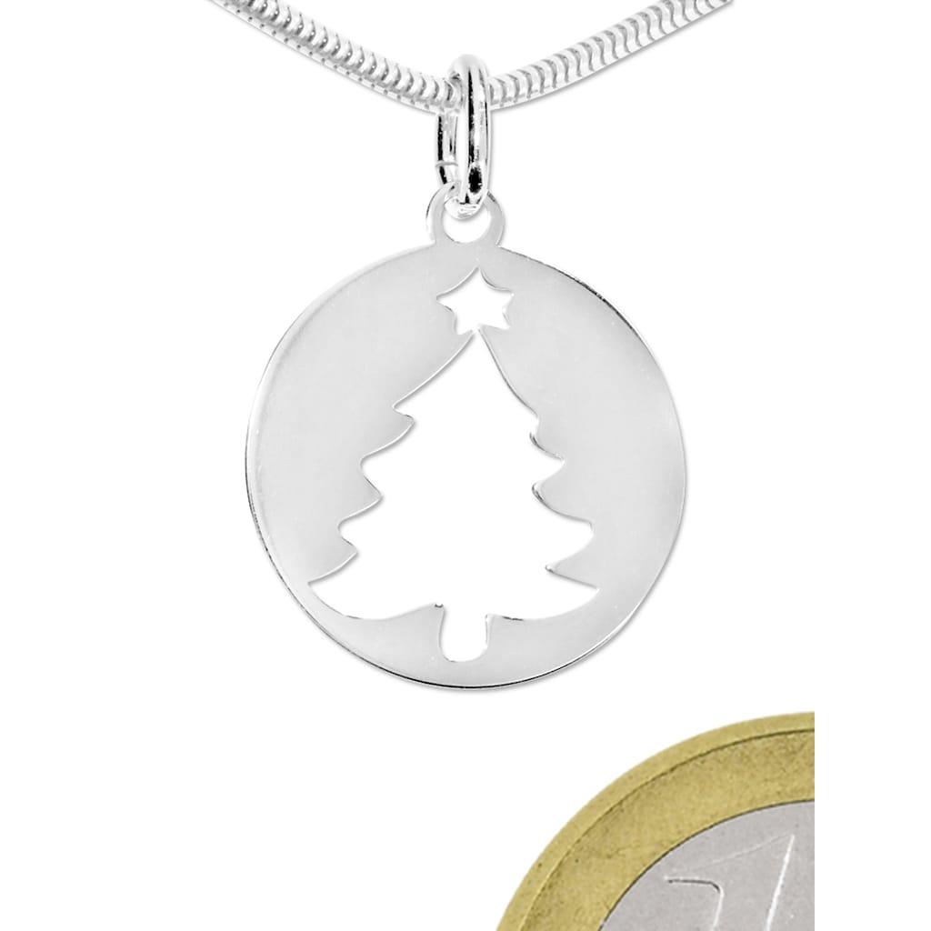 Adelia´s Kettenanhänger »Anhänger Weihnachtsbaum 925 Silber«