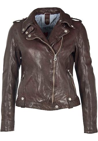 Gipsy Lederjacke »FANCY«, mit schräg verlaufendem Zipper und Umschlagkragen kaufen
