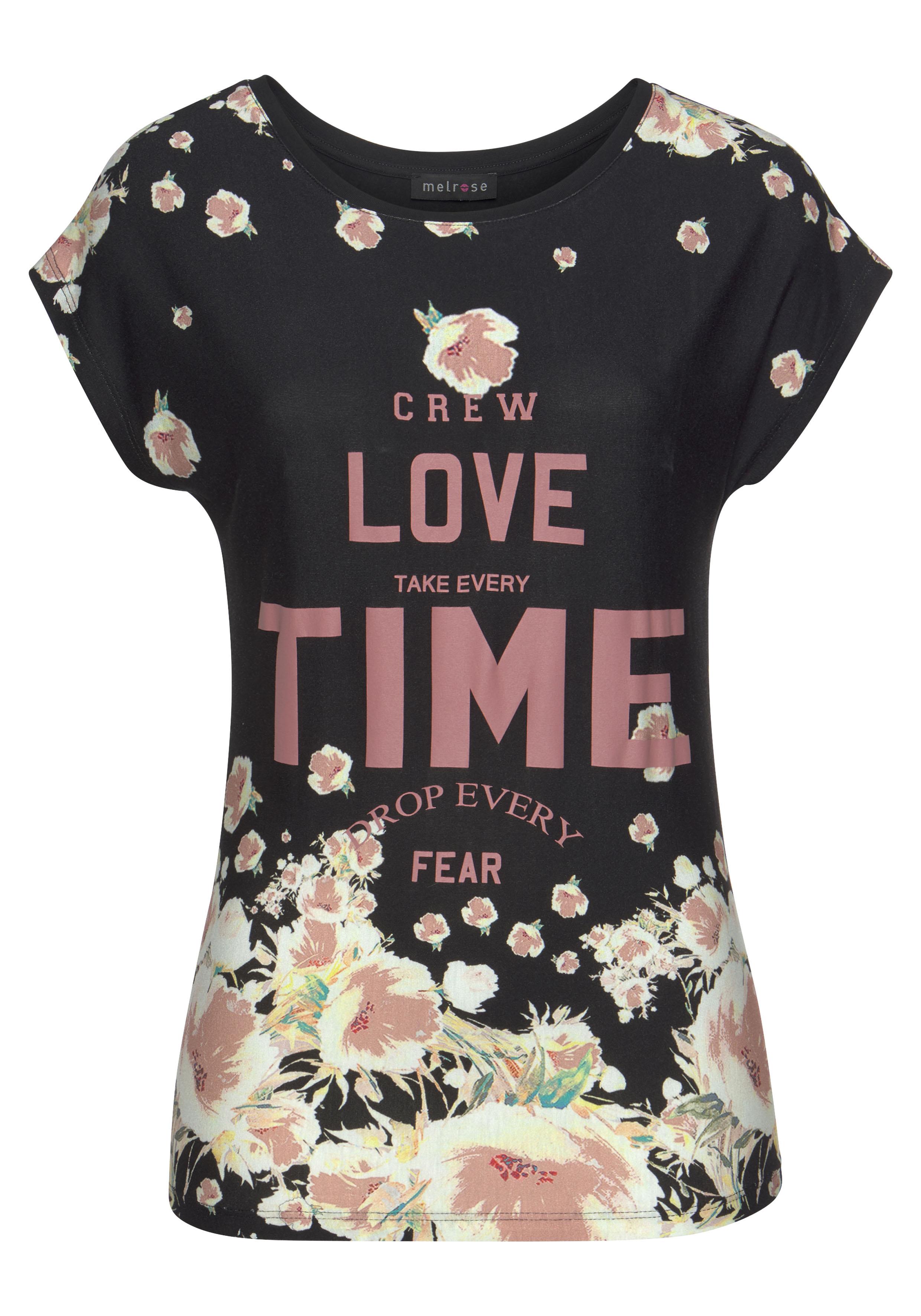 melrose -  Rundhalsshirt, mit floralem Druck