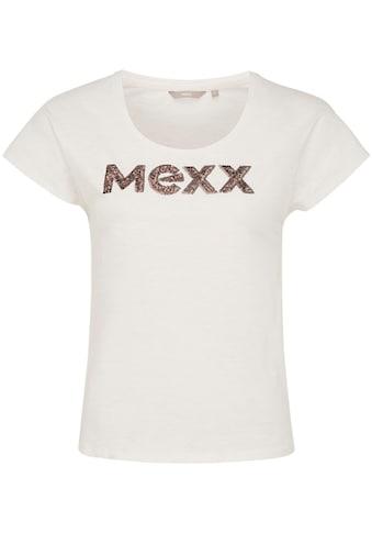 Mexx Kurzarmshirt, mit Pailletten-Detail kaufen