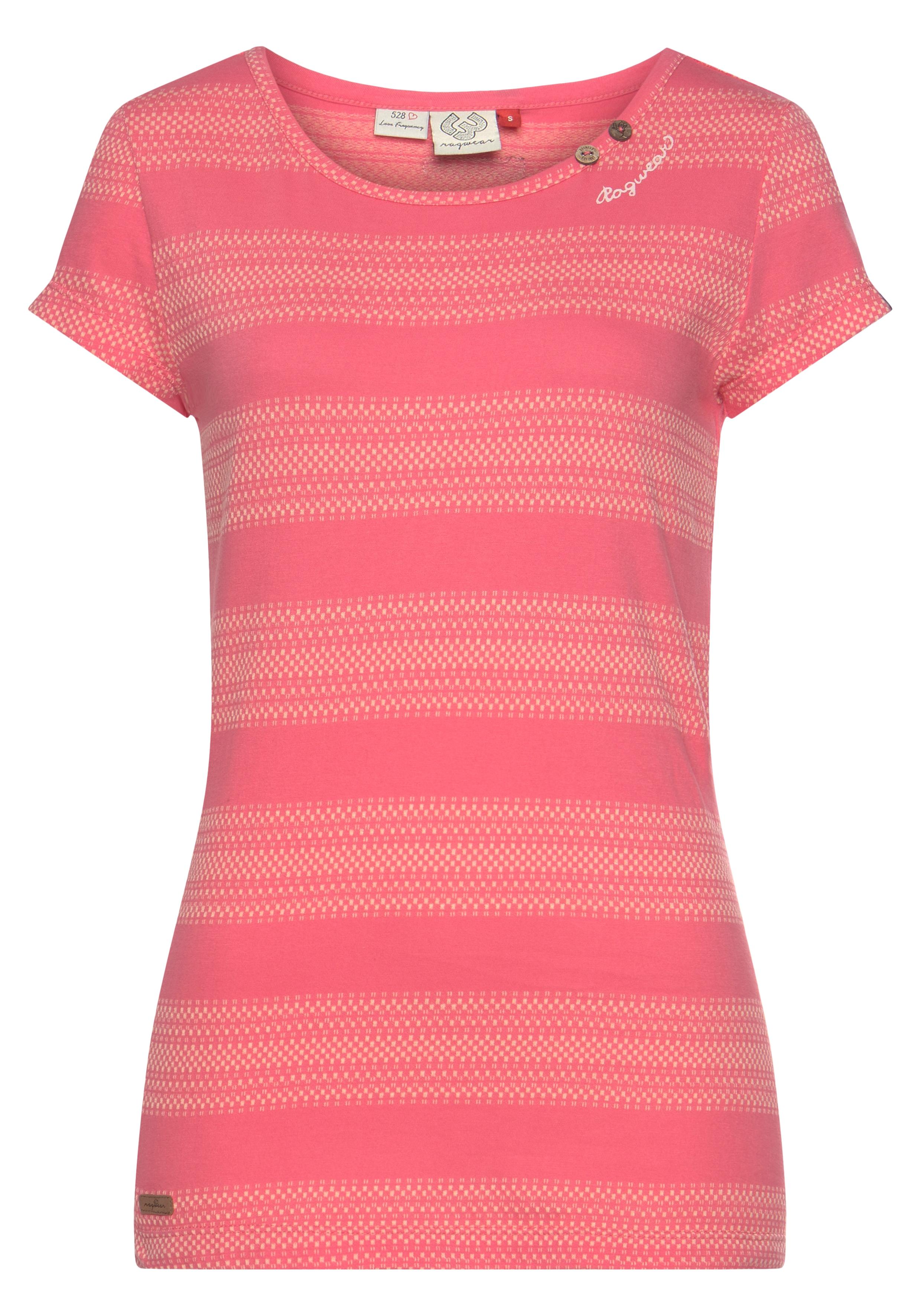 ragwear -  T-Shirt METE, im Blockstreifen-Design