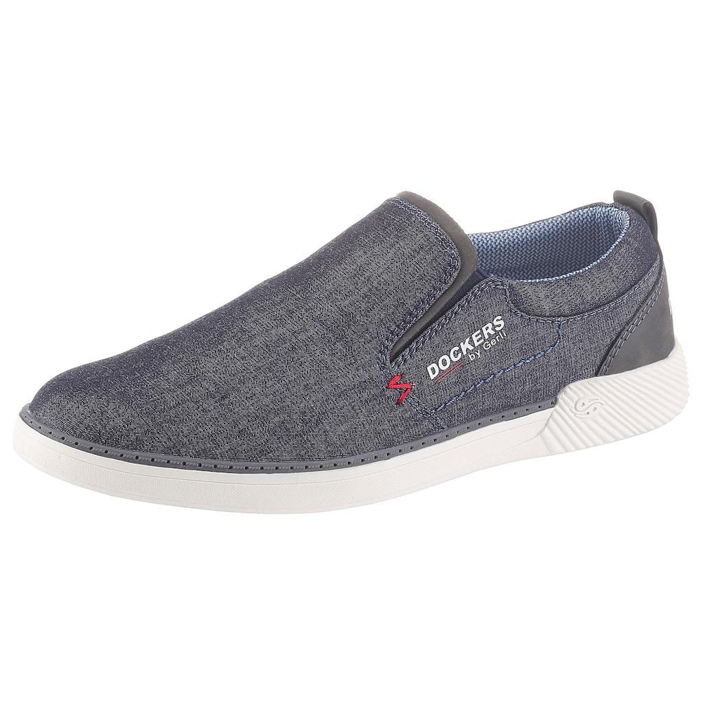 Dockers by Gerli Slip-On Sneaker, mit seitlichen Stretcheinsätzen