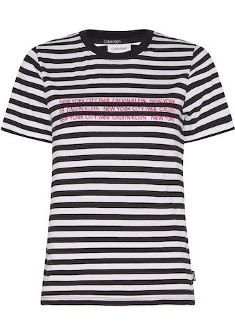 Calvin Klein Rundhalsshirt »STRIPE TEE« kaufen