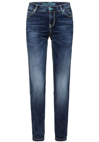 SOCCX Slim-fit-Jeans »HE:DI«, im modischen Used-Look kaufen