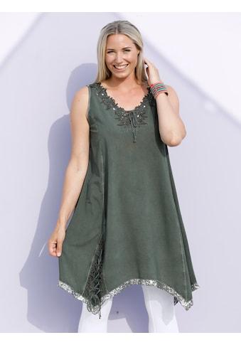 MIAMODA Shirtkleid mit glitzernden Schnür-Details kaufen