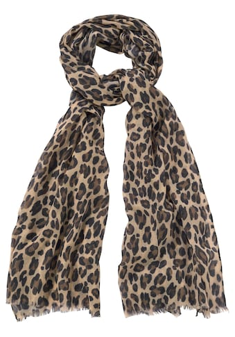 J.Jayz Modeschal, Leichter Schal mit Leo Muster, Animal Print kaufen