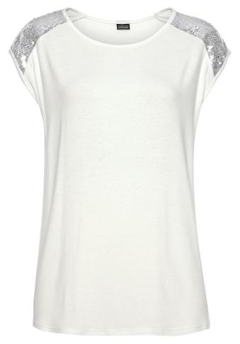 LASCANA Strandshirt, mit Paillettenbesatz kaufen