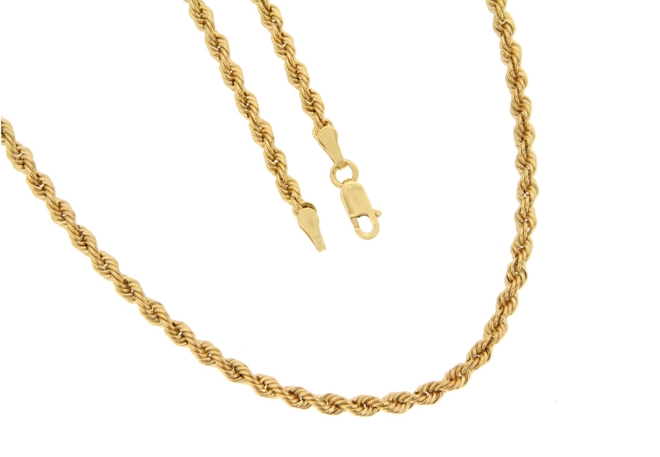 la piora -  Armband Kordel, glanz, halbmassiv, 585/- Gelbgold