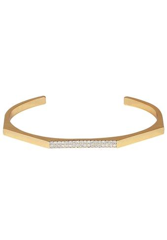 DKNY Armspange »NYC Geometric Skinny Pave Cuff (GL), 5548739«, mit Swarovski® Kristallen kaufen