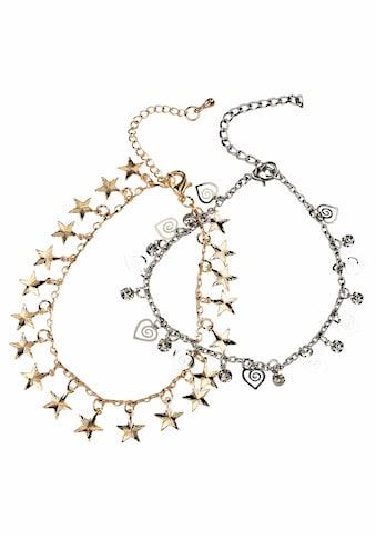 J.Jayz Fußketten Set »mit Sternen und Herzen« (Set, 2 tlg.) kaufen