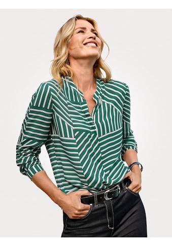 Mona Bluse mit effektvollem Streifendessin kaufen
