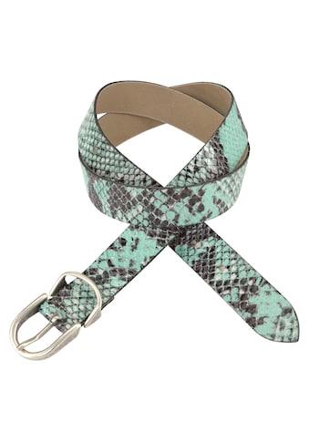 Vanzetti Ledergürtel, mit farbigem Schlangenprint kaufen