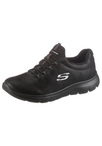 Skechers Slip-On Sneaker »SUMMITS OH SO SMOOTH«, mit gepolstertem Schaftrand kaufen