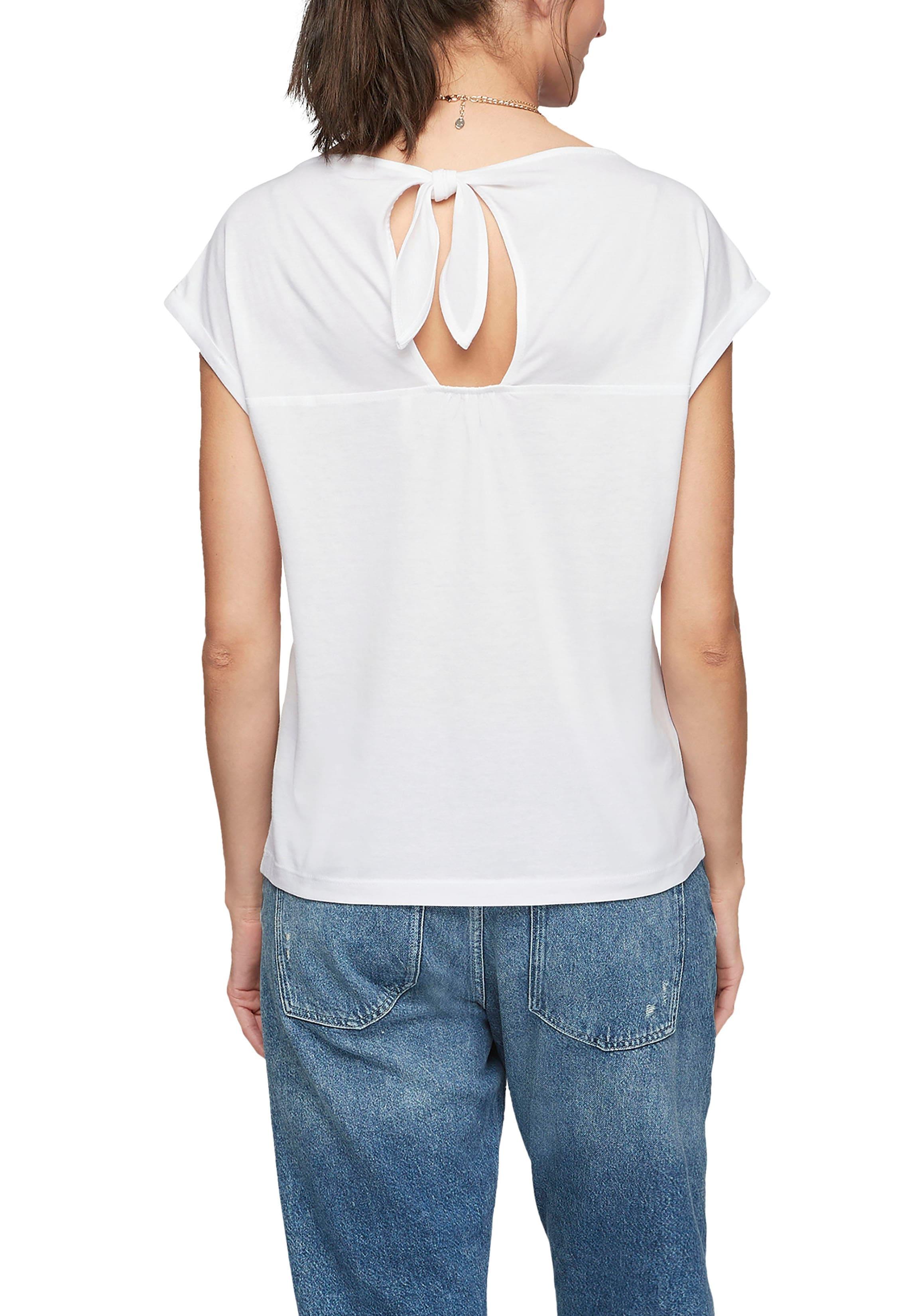 s.oliver -  T-Shirt, mit tollem Cut Out und Knoten-Detail im Rücken