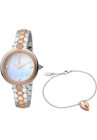 Just Cavalli Time Quarzuhr »creazione per te, JC1L128M0605«, (Set, 2 tlg., Uhr mit 1 Schmuckarmband) kaufen