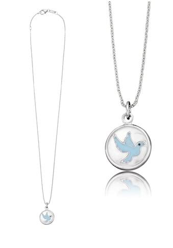 Herzengel Kette mit Anhänger »Taube als Symbol für Frieden, HEN-GLAS-01PEACE«, mit Glaslinse und Emaille kaufen