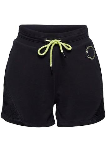 esprit sports Sweatshorts, mit tonalen Mesh-Einsätzen und kontrastfarbigen Details kaufen