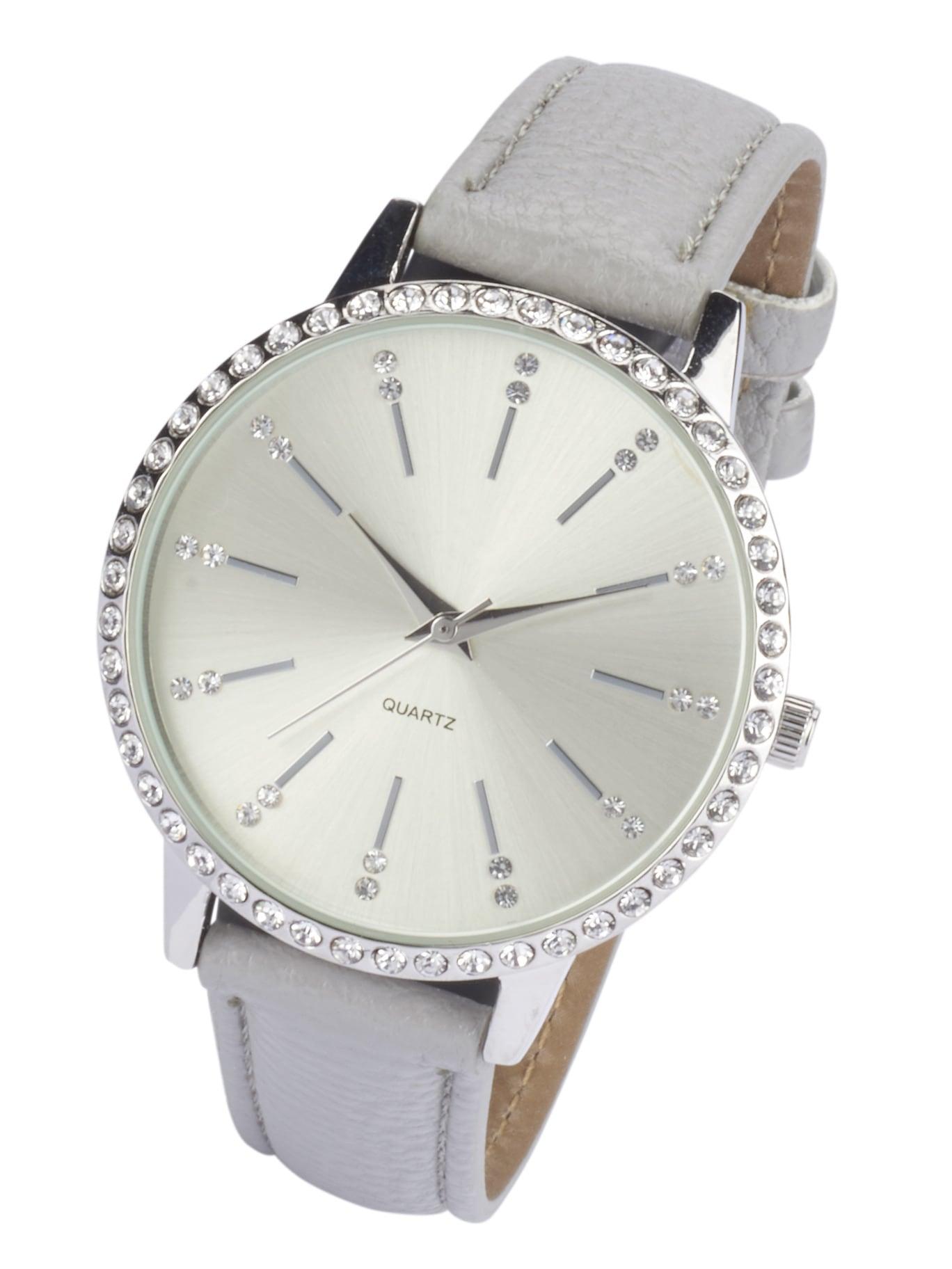 Heine Armbanduhr mit Steinchen