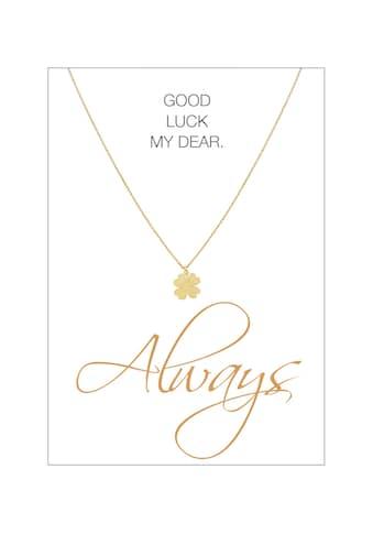 HERZ-KARTE Silberkette »Always«, gelbvergoldet mit Kleeblatt 925/- Sterlingsilber kaufen