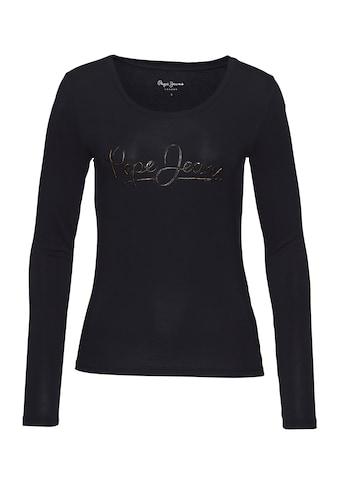 Pepe Jeans Langarmshirt »IRENERO«, mit coolem Markenschriftzug kaufen