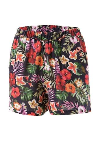 Aniston CASUAL Shorts, mit exotischen Blüten und Blättern bedruckt - NEUE KOLLEKTION kaufen