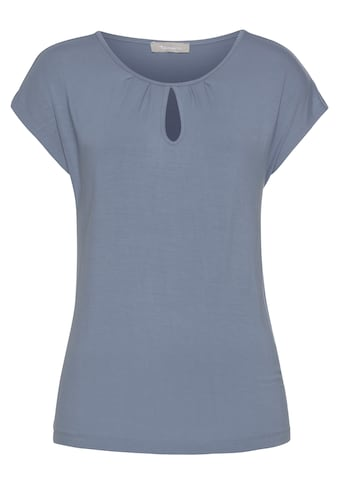 Tamaris Kurzarmshirt, mit Lochdetail am Ausschnitt kaufen
