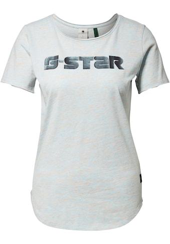 G-Star RAW T-Shirt »GR Mysid Optic Slim Top«, mit großem Logo Frontdruck kaufen