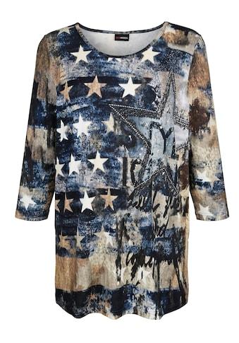 MIAMODA 3/4-Arm-Shirt, mit Dekosteinchen kaufen