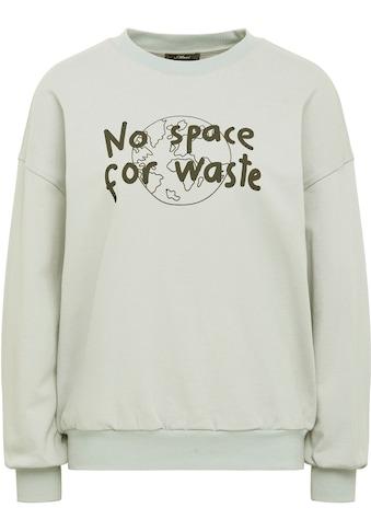 """Mavi Sweatshirt »NO WASTE«, mit coolem """"No space for waste"""" Frontdruck kaufen"""