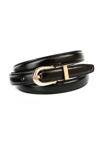 Anthoni Crown Ledergürtel, in schmaler Form mit goldfarbener Schließe kaufen