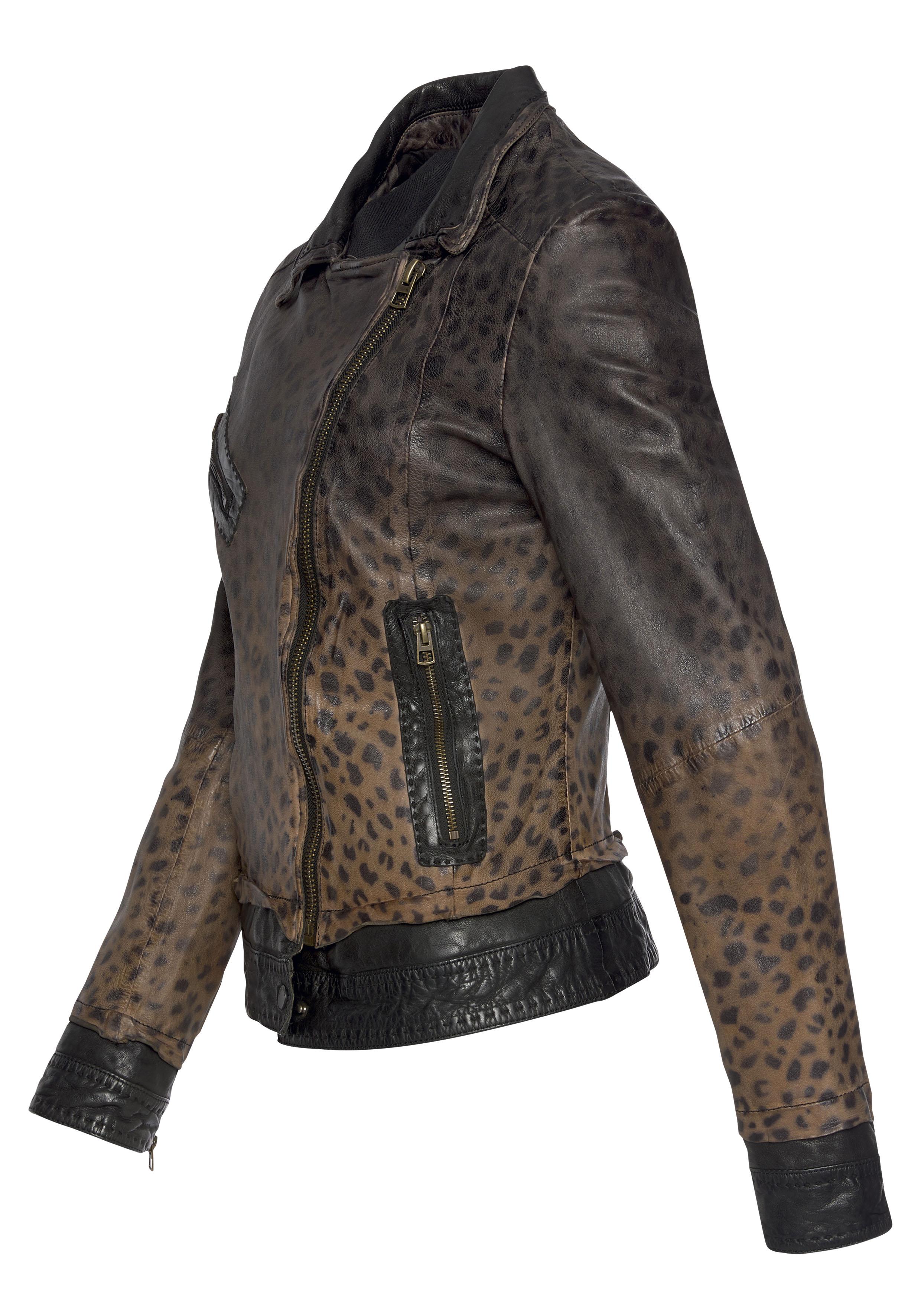freaky nation -  Lederjacke Miss Cheetah-FN, im Animal Leo Allover Design