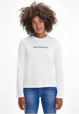 Calvin Klein Jeans Langarmshirt »SHRUNKEN INSTITUTIONAL LS TEE«, mit Calvin Klein... kaufen